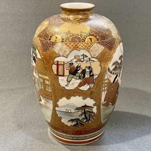 Japanese Satsuma Cabinet Vase image-3