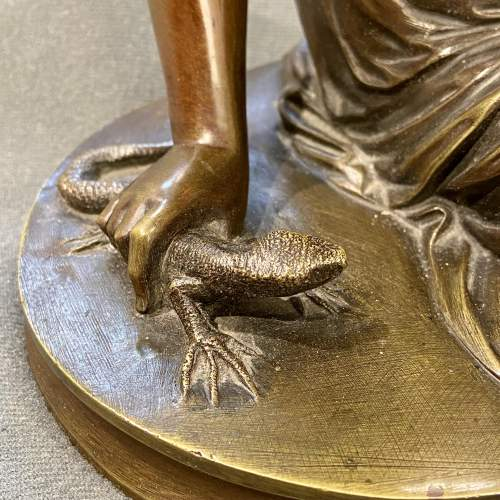 Bronze Figure of a Girl with a Lizard image-2