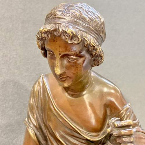 Bronze Figure of a Girl with a Lizard image-5