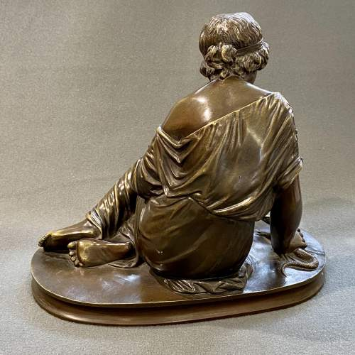Bronze Figure of a Girl with a Lizard image-3