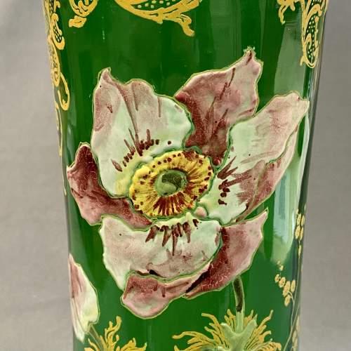 French Mont Joie St Denys Enamelled Glass Vase image-2