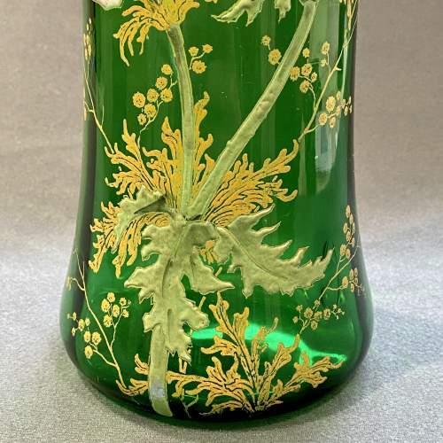 French Mont Joie St Denys Enamelled Glass Vase image-3