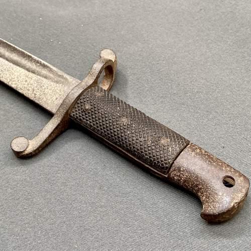 Rare British Short Rifle Bayonet image-2