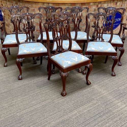 Set of Eight Victorian Mahogany Dining Chairs image-1