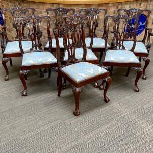 Set of Eight Victorian Mahogany Dining Chairs