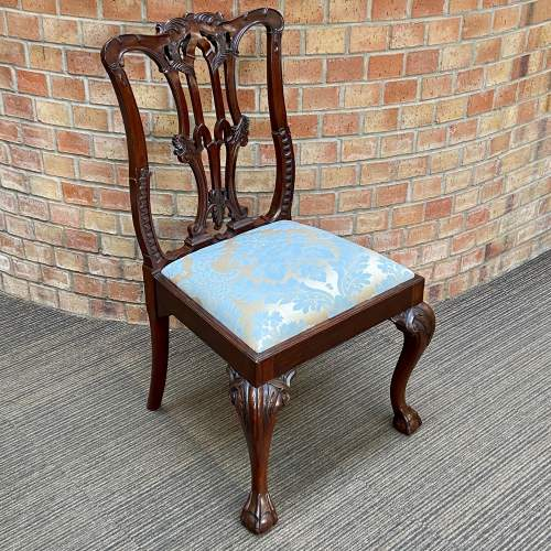 Set of Eight Victorian Mahogany Dining Chairs image-4