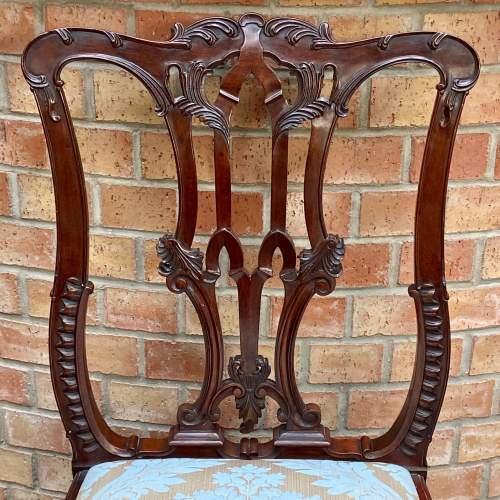 Set of Eight Victorian Mahogany Dining Chairs image-5