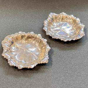 Pair of 20th Century Silver Leaf Dishes