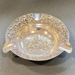 20th Century Highly Decorative Dutch Silver Ashtray