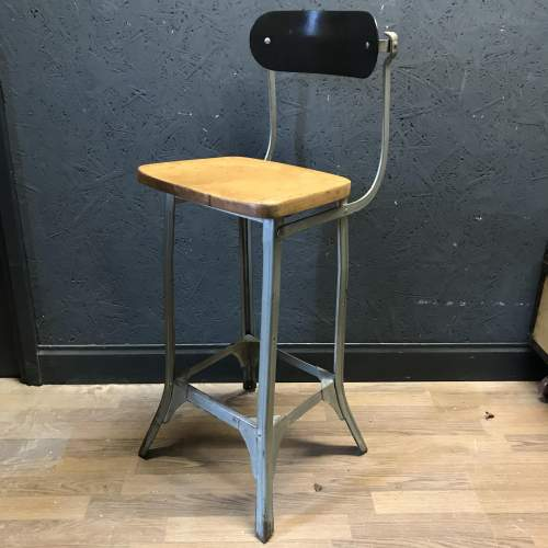 Vintage Factory Machinists Chair Stool image-1