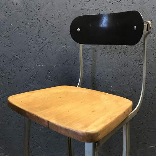 Vintage Factory Machinists Chair Stool image-2