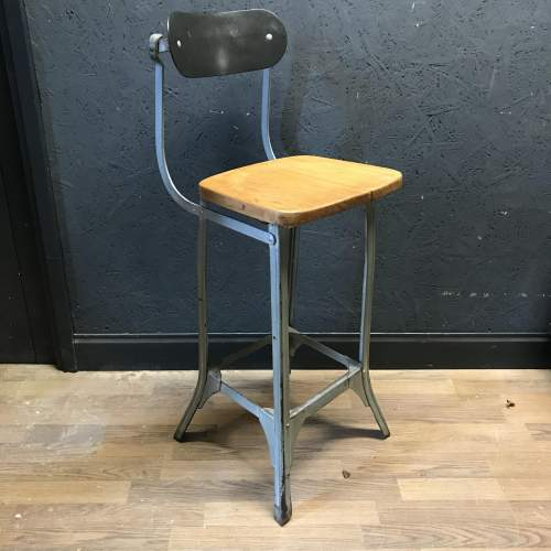 Vintage Factory Machinists Chair Stool image-4