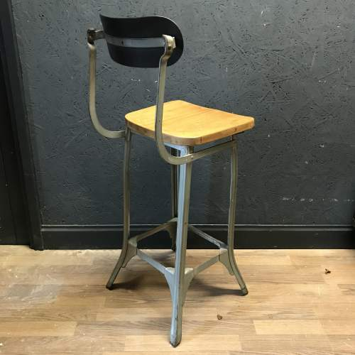 Vintage Factory Machinists Chair Stool image-5