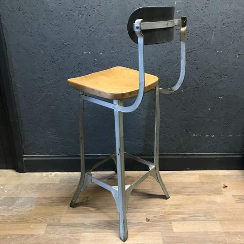 Vintage Factory Machinists Chair Stool image-6
