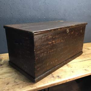 Lovely Victorian Painted Pine Blanket Box