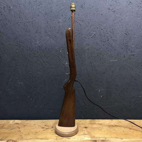 Old Rifle Stock Lamp image-2