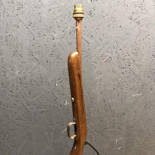 Old Rifle Stock Lamp image-3