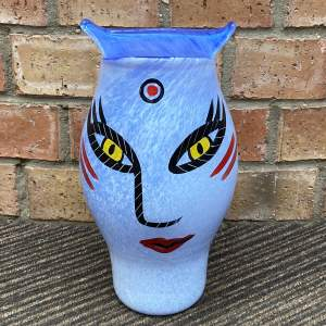 Kosta Boda Handpainted Open Minds Vase by Ulrica Hyoman-Vallien