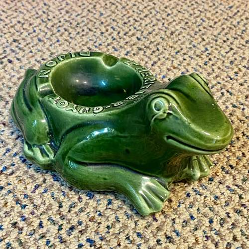 20th Century French Frog Advertising Ashtray image-1