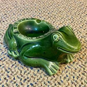20th Century French Frog Advertising Ashtray