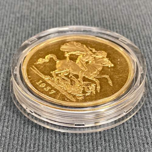 1937 Gold Proof £5 Coin image-3