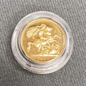 1937 Gold Proof Sovereign Coin