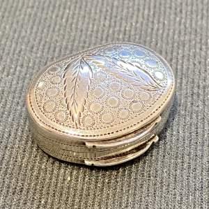 George III Silver Vinaigrette