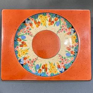 Clarice Cliff Biarritz Chloris Rectangular Plate