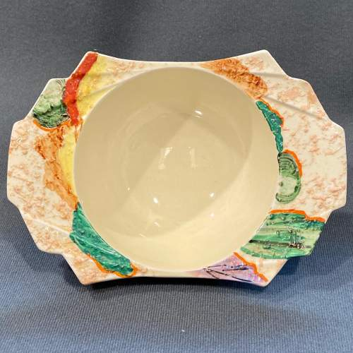 Clarice Cliff Patina Country Grapefruit Bowl image-2