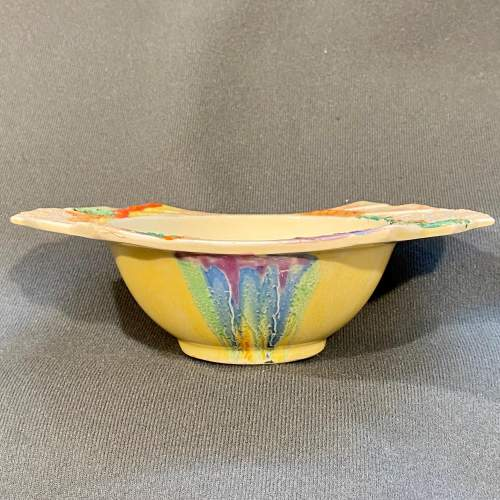Clarice Cliff Patina Country Grapefruit Bowl image-3