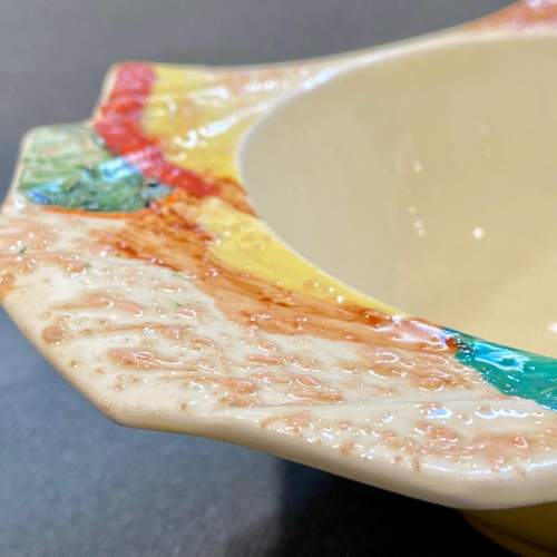Clarice Cliff Patina Country Grapefruit Bowl image-4