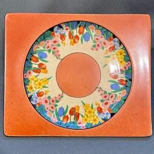 Clarice Cliff Biarritz Chloris Small Rectangular Plate
