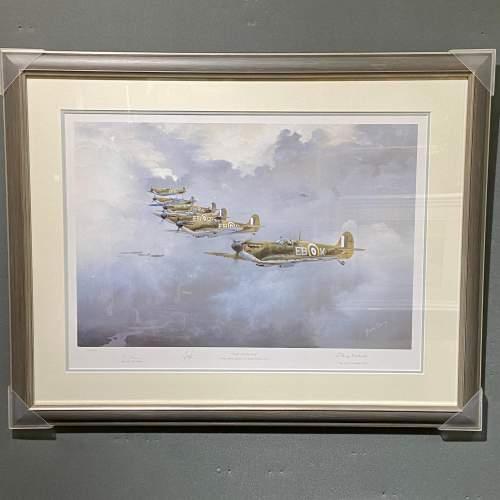 Seek and Destroy Spitfire Print by Robin Smith G.Av.A. Signed image-1