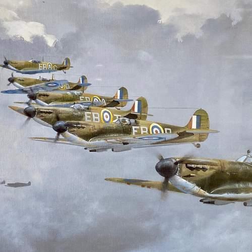 Seek and Destroy Spitfire Print by Robin Smith G.Av.A. Signed image-2