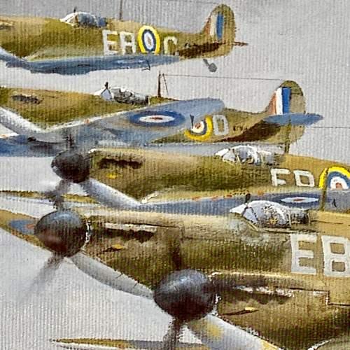 Seek and Destroy Spitfire Print by Robin Smith G.Av.A. Signed image-4