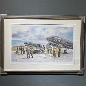 Douglas C47 Skytrains Print by Robin Smith G.Av.A.