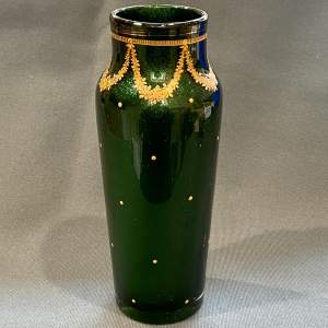 Legras Vase in Aventurine Glass