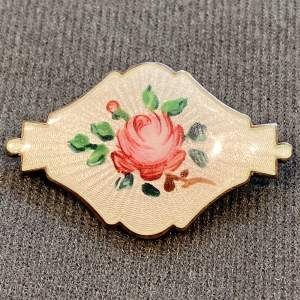 Ivar T Holth Norwegian Silver and Enamel Brooch