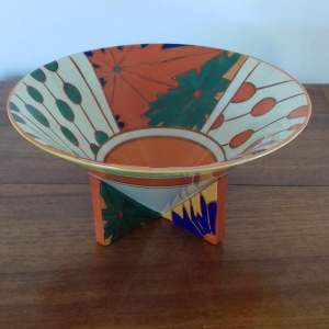 Midwinter Clarice Cliff 1980s Reproduction Umbrellas and Rain Conical Bowl