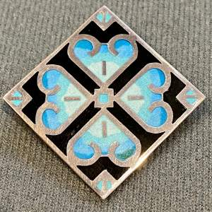Scottish Silver and Enamel Brooch