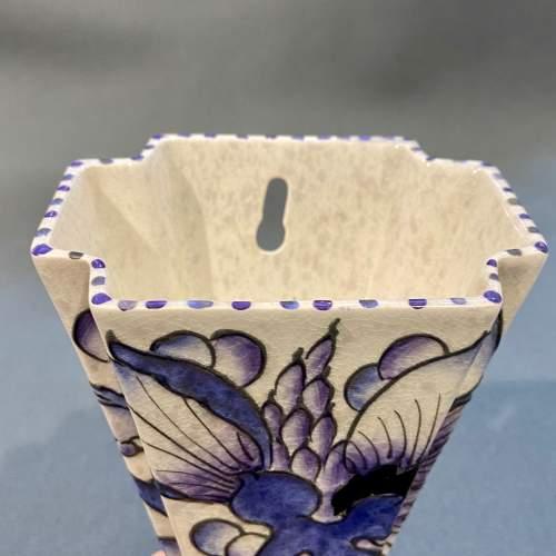 Charlotte Rhead Blue Peony Wall Pocket image-2