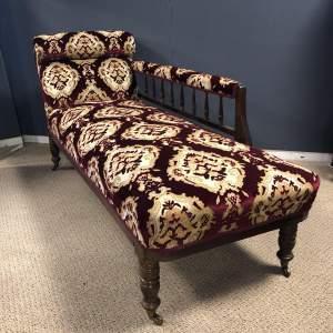 Edwardian Upholstered Chaise Longue