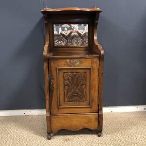 Edwardian Small Walnut Cabinet