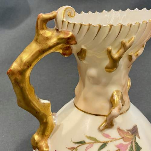 19th Century Royal Worcester Porcelain Hand Painted Jug image-4