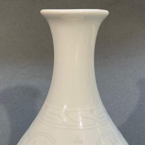 Quality Japanese Porcelain Celadon Vase image-5