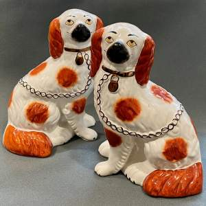 Pair of 20th Century Staffordshire Dogs