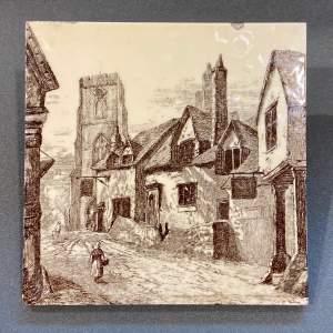 19th Century Minton L.T.Swetman Westgate Warwick Tile