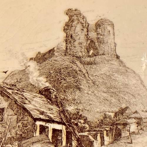 19th Century Minton L.T.Swetman Criccieth Castle Wales Tile image-2