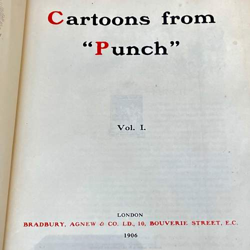 Early 20th Century Set of Four Volumes of Punch Cartoons image-3
