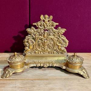 Highly Decorative Solid Brass Desk Rack